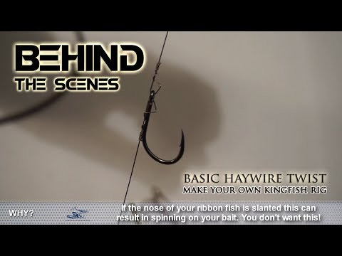 How To Tie A KINGFISH RIG | Haywire Twist With Stainless Steel