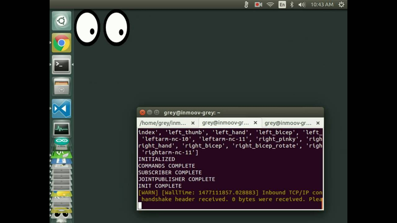 xeyes x11 demo on ubuntu 16 04