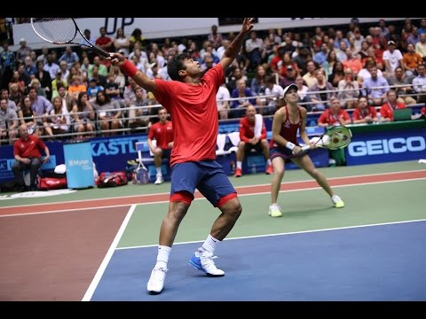Leander Paes & Martina Hingis 2014 Eastern Conference Championship Highlights