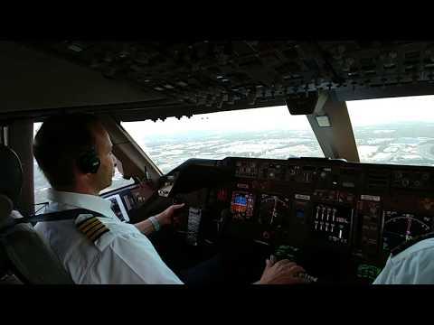 Boeing 747-400 Cargo Landing, Taxi And Park In Atlanta