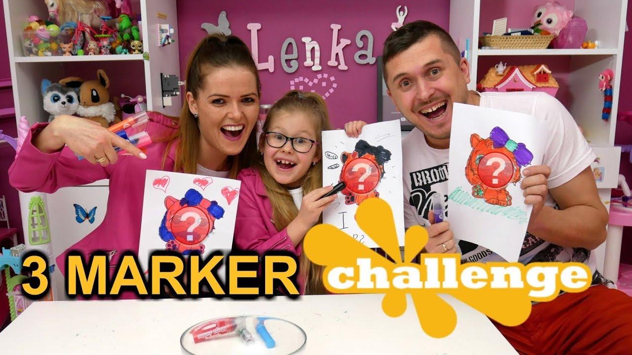 3 MARKER CHALLENGE Z RODZICAMI * malujemy L.O.L. i LPS *