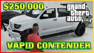 VAPID CONTENDER | Fully Upgraded | Cunning Stunts GTA 5 Online DLC