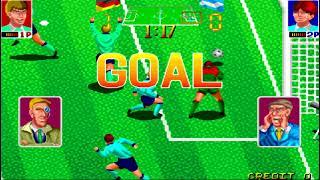 Football Champ (JAMMA) - Random Gameplay (2-player Versus)
