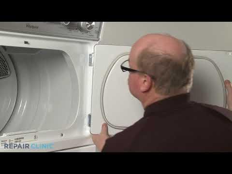 Dryer Door Hinge Replacement - Electric Washer/Dryer Combo (Model #WET4027EW0)