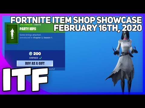 Fortnite Item Shop *NEW* PARTY HIPS EMOTE! [February 16th, 2020] (Fortnite Battle Royale)