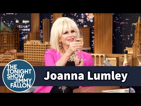 Joanna Lumley Drinks Lots of Free Champagne ting Absolutely Fabulous