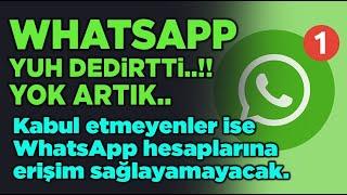 WhatsApp SÖZLEŞMESİ YAYINLANDI - 8 ŞUBAT 2021 TARİHİNE KADAR ZAMANINIZ VAR!