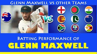 Glenn Maxwell vs Other Teams | Glenn Maxwell Batting Career Summary