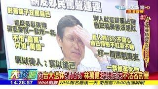 2017.05.08大政治大爆卦完整版 從台大退休領18% 林萬億:照規定來不沽名釣譽