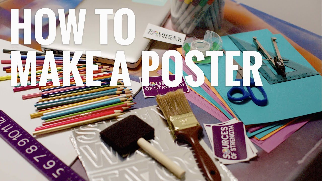 how to make a poster sources of strength