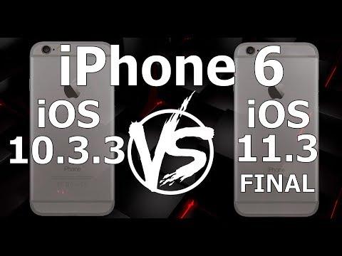 IPhone 6 : IOS 10.3.3 Vs IOS 11.3 Final Speed Test (Build 15E216)