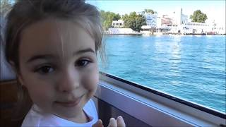 Outdoor playground  walk on the boat and lots of fish Kids video
