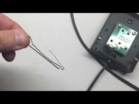 How to Fix Broken Keyboard Electronic Piano Sustain Pedal with a Bobby Pin!