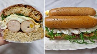[1분완성] 닭 가슴살 소시지 샌드위치 만들기 Make…