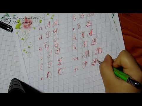 Kiểu chữ đẹp đơn giản, dễ luyện | Các kiểu chữ đẹp tham khảo | Cách viết chữ kiểu đẹp đơn giản