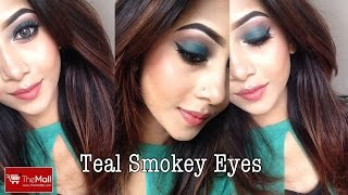 New EID Look Teal Green Smokey Eyes