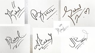"""How to Draw Signature like a Billionaire (For Alphabet """"R"""")"""