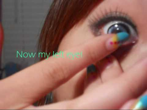 How I put in Contacts - Angel Blue Contacts