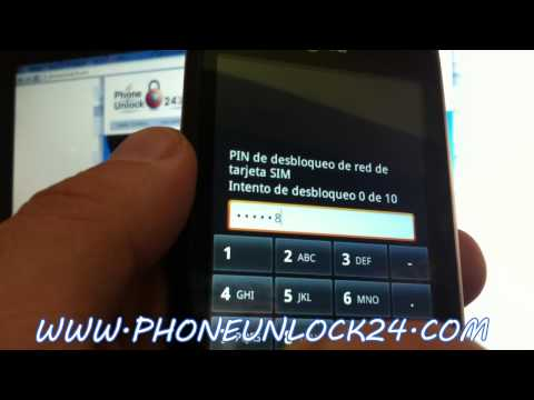 UNLOCK LG OPTIMUS ONE P500 ,Liberar LG P500 Optimus One