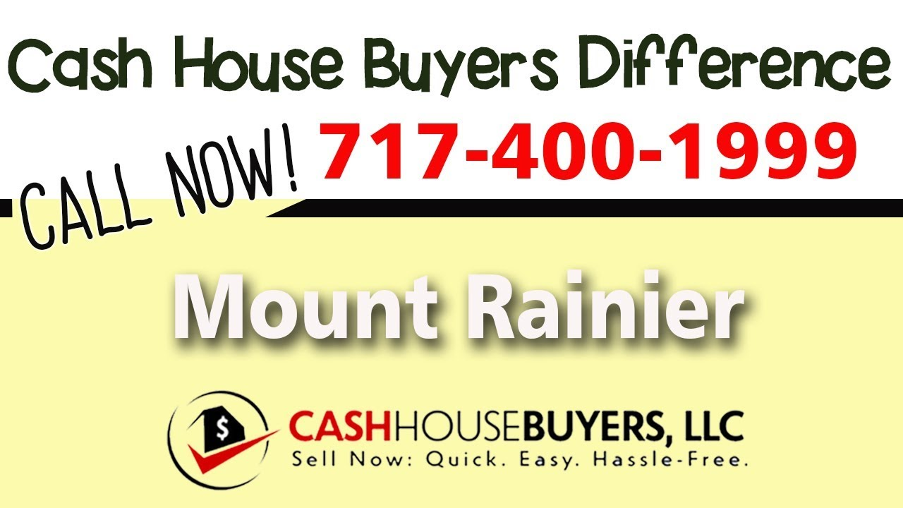 Cash House Buyers Difference in Mount Rainier MD   Call 7174001999   We Buy Houses