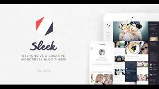 Sleek v1.5 – Responsive & Creative WordPress Blog Theme DESCARGA GRATIS !!!