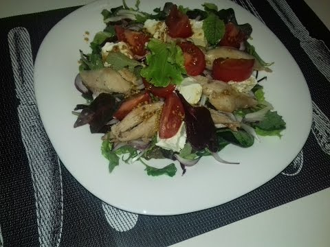 салат с курицей, фасолью и сыром, рецепт приготовления