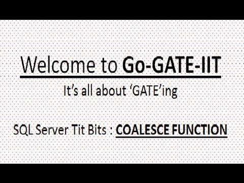 SQL Server : Coalesce Function