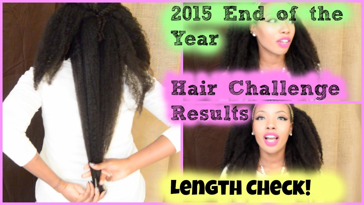 2015 Hair Challenge Results Growth Pics Results Youtube