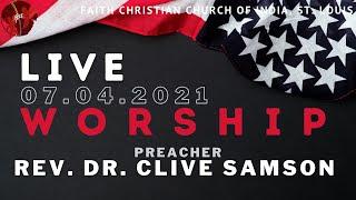 FCCIndia Live Worship 07/04/2021 | FCCI St. Louis