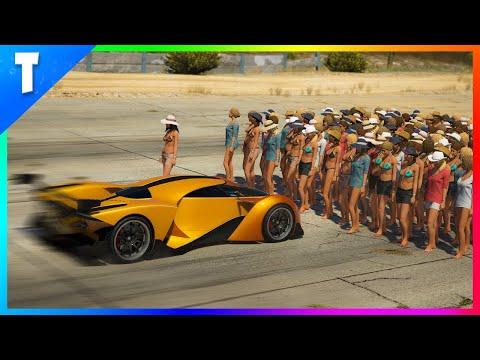 GTA 5 : Arrêter la voiture la plus rapide du jeu avec 100 PNJ ?