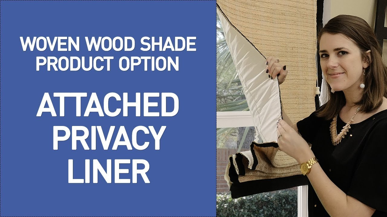 Bamboo Shades With Privacy Liner Option Quick View Youtube