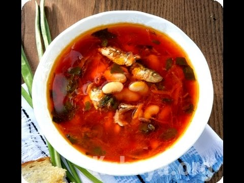 рецепты супа с фасолью и килькой