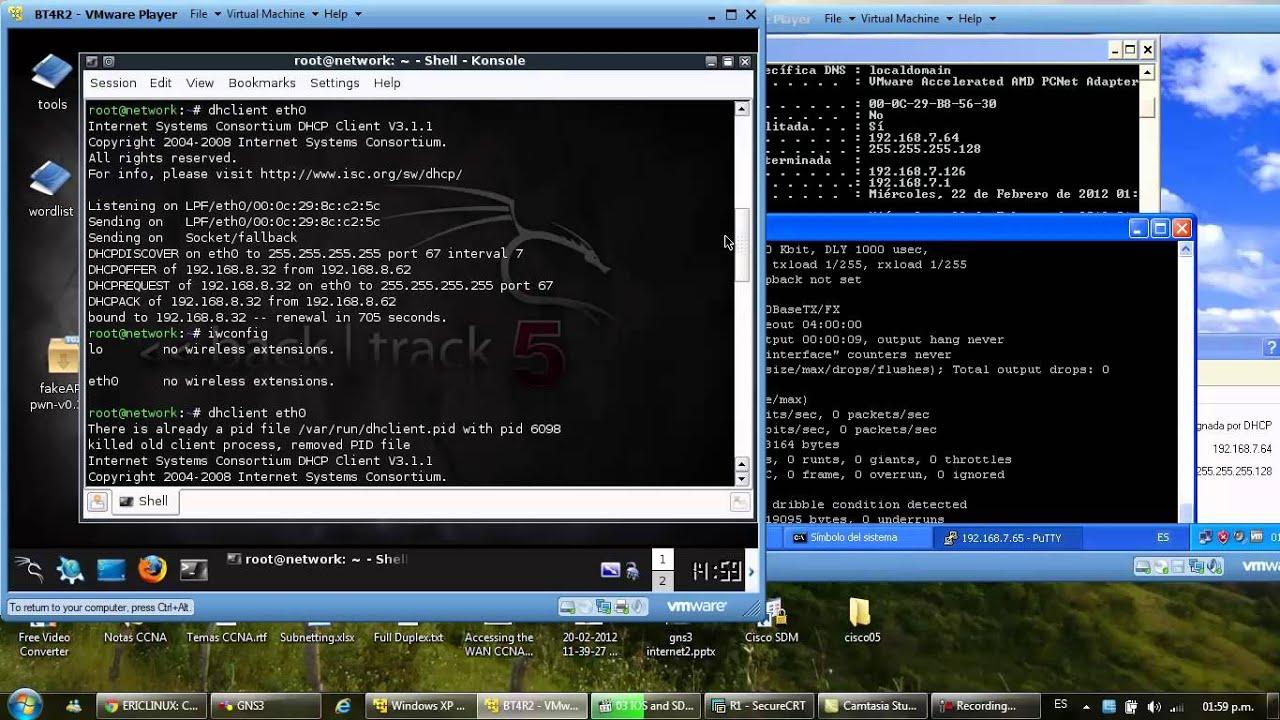 Testing VMware GNS3 SSH DHCP BT Cisco IOS