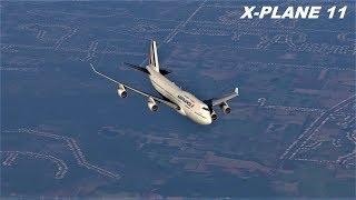 Учимся летать на Boeing 747 400  X Plane 11