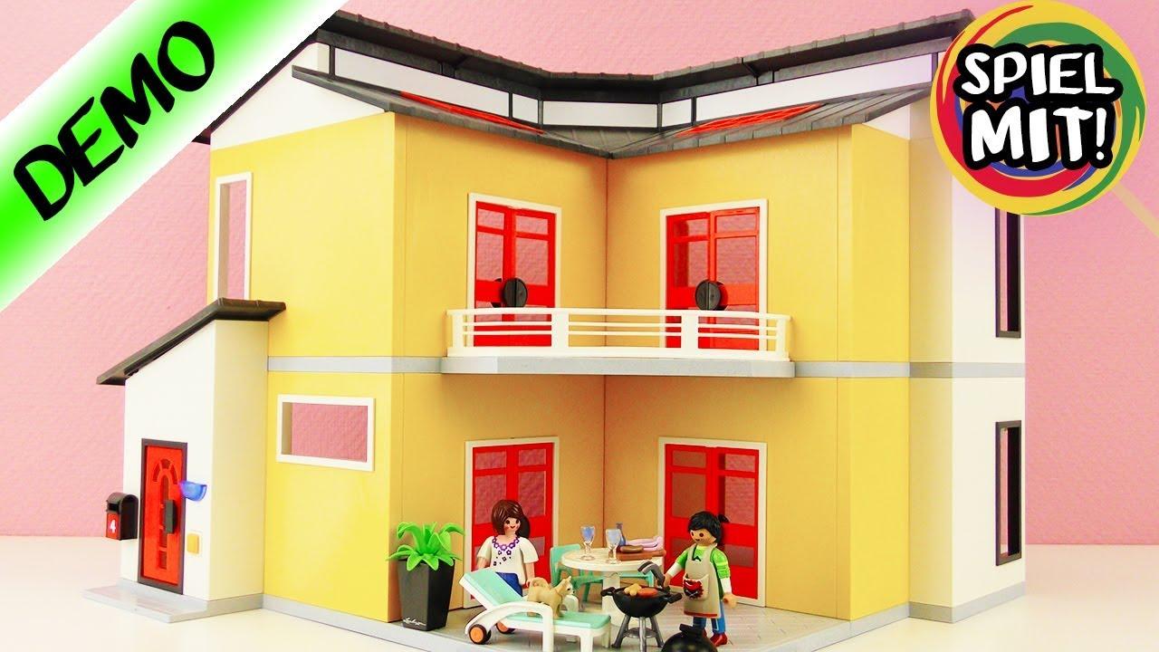 playmobil modernes wohnhaus 9266 auspacke aufbauen spiel mit mir kinderspielzeug auf. Black Bedroom Furniture Sets. Home Design Ideas