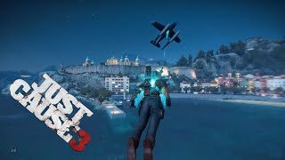 Sea to Air Plane Launch and Destruction - Just Cause 3 Stunts