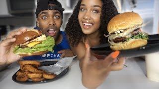 Video THICK JUICY BURGER MUKBANG | SMACKING AND CRUNCHY NOISES | EATING SHOW! download MP3, 3GP, MP4, WEBM, AVI, FLV Agustus 2018