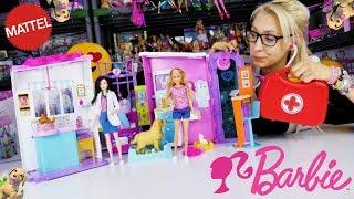 Marivobox #24 * BARBIE LECZNICA DLA ZWIERZĄT NARODZINY SZCZENIACZKÓW * Unboxing po polsku z lalkami