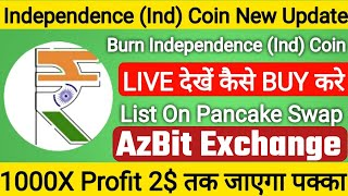 INDCOIN - INDIA'S CRYPTOCURRENCY | Listing On AzBit Exchange | How To But IND COIN | Next 1000X Gem