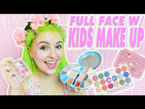 ♡ FULL FACE WITH KIDS MAKE UP ♡