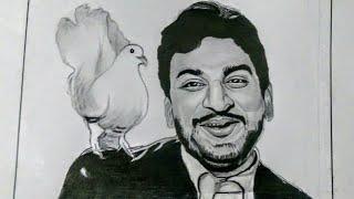Dr.Rajkumar Drawing/Dr.rajkumar pencil sketch/