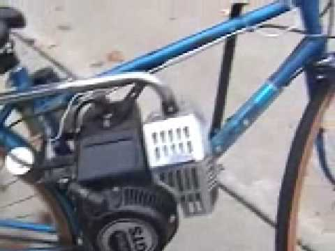 lawn mower powered bicycle youtube. Black Bedroom Furniture Sets. Home Design Ideas