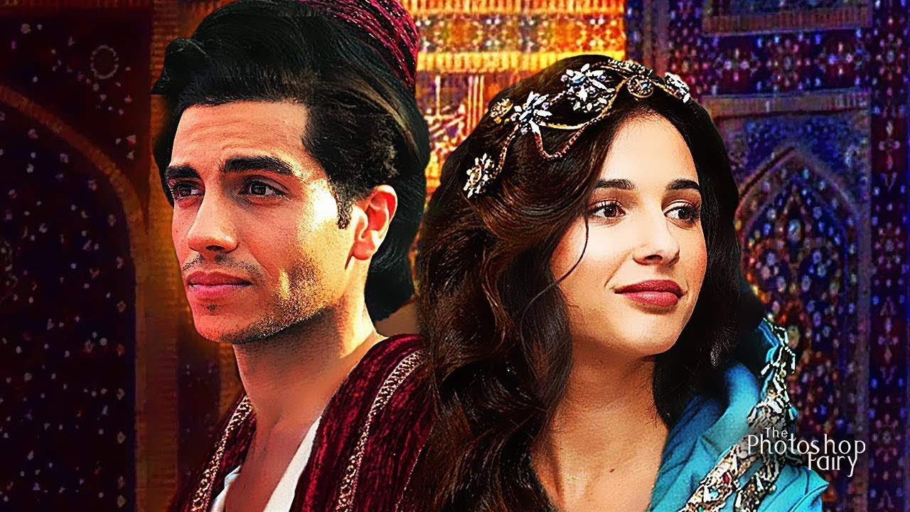 Disney's Aladdin (2019) Naomi Scott and Mena Massoud as Princess Jasmine and Aladdin - YouTube