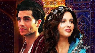 Disney's Aladdin (2019) Naomi Scott and Mena Massoud as Princess Jasmine and Aladdin