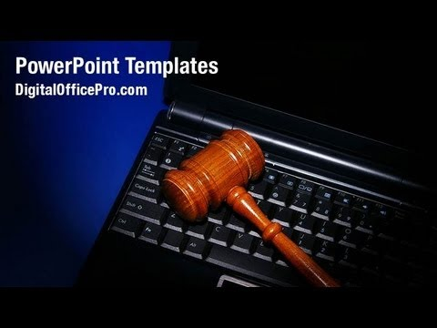 Cyber Law PowerPoint Template Backgrounds - DigitalOfficePro #07286W ...