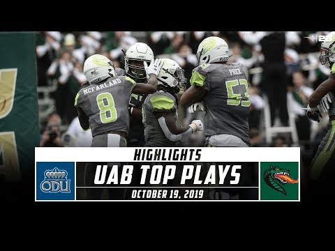 UAB Football Top Plays Vs. Old Dominion (2019) | Stadium
