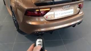 audi rs7 performance bronze audi exclusive in depth led lights interior and more