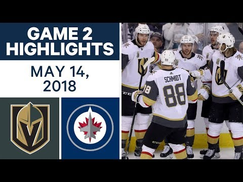 NHL Highlights | Golden Knights vs. Jets, Game 2 - May 14, 2018
