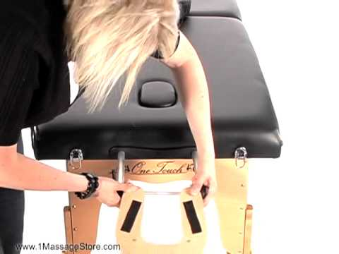 Onetouch Massage Table Face Cradle Adjustment How To Adjust A