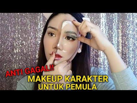 make up karakter cantik || recreate nikkietutorials phantom of mask thumbnail